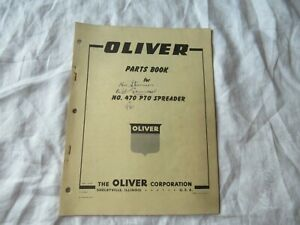 1959 Oliver 470 Pto Manure Spreader Parts Book Catalog Manual