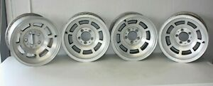 1973 Thru 1982 C3 Corvette Aluminum Slot Wheel Set Of 4 Original Kelsey Hayes Gm