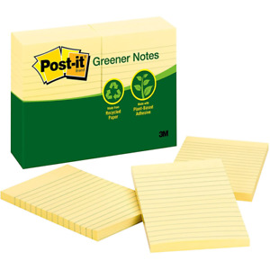 Post it Notes 660 rp 4 In X 6 In Canary Yellow Lined
