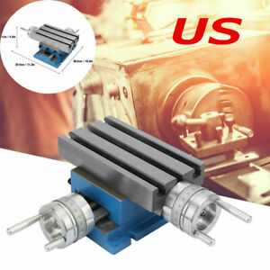 Milling Machine Bench Fixture Worktable Cross Slide Table Drill Vise 4 7 3 New