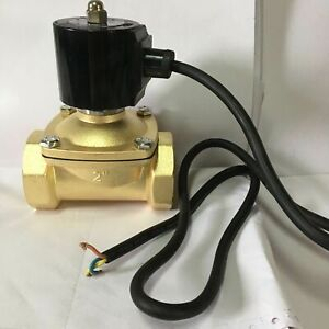 Electric Solenoid Valve Ac 220v G2 direct Water 25w Normally Closed Water Brass