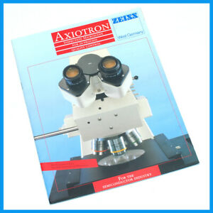 Zeiss Axiotron Microscope 18 Page Full Color Sales Brochure Pamphlet