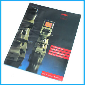 Zeiss Axioplan Axiophot 8 Page Microscope Color Sales Brochure Pamphlet