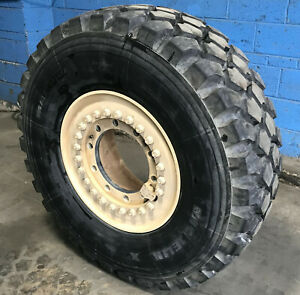 Michelin Xzl 395 85r20 Super Single Radial Tire Mounted On 2 Piece 10 Hole Rim