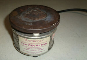 thermolyne Type 15500 Hot Plate Model Hp15515b 120v 50 60 Hz 330 Watts works