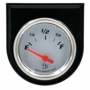 2 Inch White Fuel Level Gauge 90 Degree Sweep Br Equus 5362 Authorized Dist