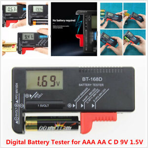 Lithium Battery Capacity Tester Testing Equipment Lcd Display For Lr44 9v Aaa