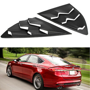 Side Window Louver Cover Sun Shade Vent Abs For 2013 2018 Ford Fusion 2pcs