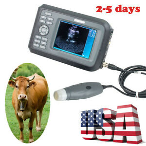 Us Handheld Ultrasound Scanner Animals Veterinary Vet Mechanical Sector Probe