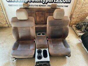 2004 2008 Ford F150 King Ranch Leather Seats Crew Cab W Middle Console