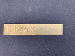 New Fairbanks Morse For h Strip Brass Tag Antique Gas Engine Hit Miss