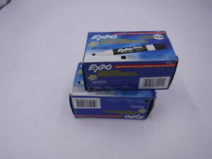 2 Boxes Of 12 Expo 80001 Low Odor Chisel Dry Erase Marker Black