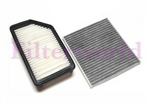 Engine And Carbon Cabin Air Filter For 12 17 Hyundai Accent Veloster Kia Rio
