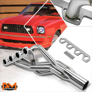 For 74 80 Ford Mustang Ii pinto 2 3 L4 Stainless Steel 4 1 Racing Exhaust Header
