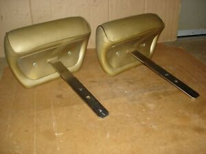 1969 1972 Gm A Body Orig Gold Bench Headrest Chevelle Oldsmobile Buick Pontiac