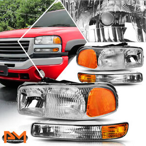 For 99 07 Gmc Sierra yukon Oe Replacement Headlight bumper Lamps Amber Corner