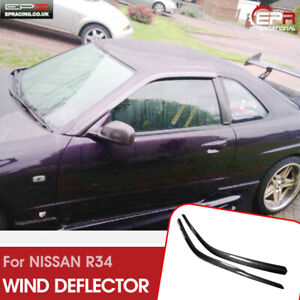Oe Style Carbon Fiber Wind Deflector Exterior Kit For Nissan Skyline R34 Gtt Gtr