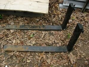Used 4 X 42 X 1 25 Forklift Forks For 16 Lever Style 1640215a11 42