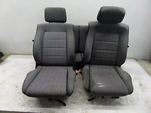 Vw Cabriolet Rabbit Convertible Seats Mk1 88 93 Oem Plaid