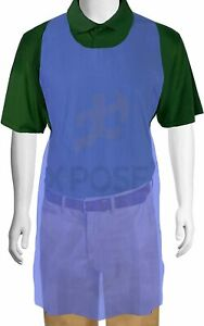 100 Blue Plastic Disposable Aprons For Cooking Painting And More