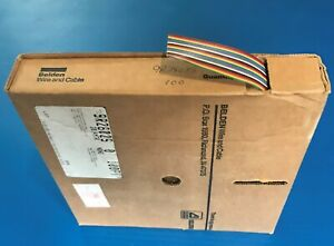 50ft Belden 9l28025 0 100 Flat Ribbon Cable Rainbow 28 Awg 25 Cond 300v
