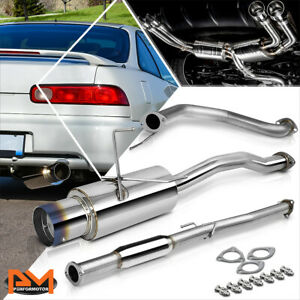For 94 01 Acura Integra Dc1 Db Gs Ls Rs 4 Burnt Tip Muffler S S Catback Exhaust