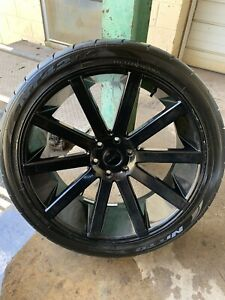 Dub S219 Shot Calla 24x10 6x5 5 30mm Gloss Black Wheel Rim 24 Inch