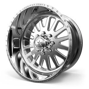 20x10 American Force F20 Atom Ss Polished Forged Wheels Chevy Gmc Hd 8x180