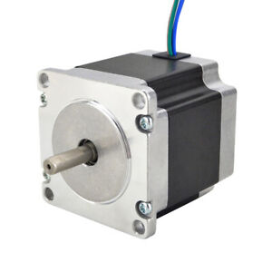 Nema 23 Stepper Motor 1 26nm 57x56mm 2 8a 6 35mm Shaft 4 wire Cnc Router Mill