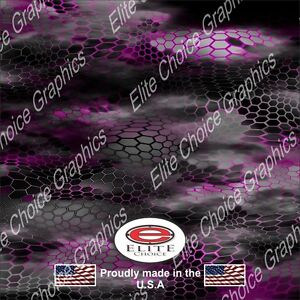 Hex 2 Pink Camo Decal Wrap Vinyl 52 X15 Truck Print Real Camouflage