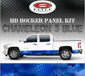 Hex 3 Blue Camo Rocker Panel Graphic Decal Wrap Truck Suv 12 X 24ft