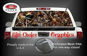 Bow Reaper Skull Blaze Camo Rear Window Graphic Decal Sticker Truck Van Car