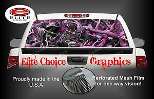 Bow Reaper Pink Camo Rear Window Graphic Decal Sticker Truck Van Car