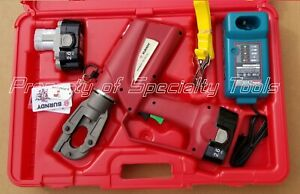 Burndy Pat600 18v Hydraulic Battery Operated Crimper 6 Ton Crimping Tool New