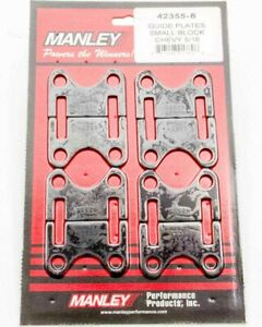 Manley 42355 8 Pushrod Guide Plates Flat Fits Small Block Chevy 5 16 8 Pc
