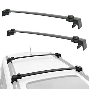 2x Top Roof Rack Crossbars Cross Bars For 2017 2019 jeep Compass Luggage Carrier