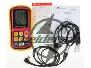 Digital Ultrasonic Thickness Gauge Tester Gm130 Sound Velocity Meter New