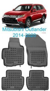 All Weather Floor Mats Liners Set For Mitsubishi Outlander 2014 2020 Suv 3d