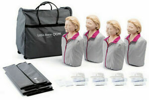 Laerdal Little Anne Adult Qcpr Manikins 4 pack With Feedback Light Skin New