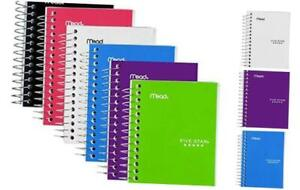 Five Star Spiral Notebook Fat Lil Pocket Notebook College Ruled Paper 200