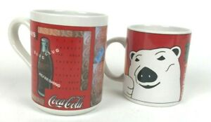 2 Vintage 1996-97 Coca Cola Mugs By Gibson Great Condition