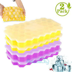2 Silicone Ice Cube Mold Tray 74 Grids Square Mould Ice Cube Ball Maker Diy Mold