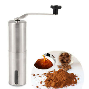 1x Manual Coffee Grinder Ceramic Burr Mill Bean Hand Grinder French Press Useful $18.04