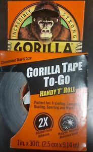 Lot Of 10 gorilla 1 In X 30 Ft To go Heavy duty Duct Tape Black New