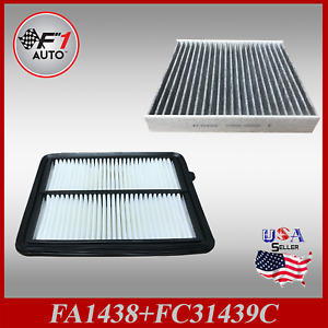 Auto1tech Engine Carbon Cabin Air Filter Combo For 2018 2020 Nissan Kicks
