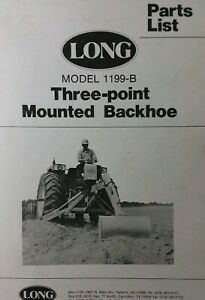 Long 1199 b Three Point Hitch Backhoe Implement Attachment Tractor Parts Manual