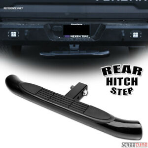 Black Steel Rear Hitch Step Bar Guard For 2 Trailer Tow Tailgate Receiver S14