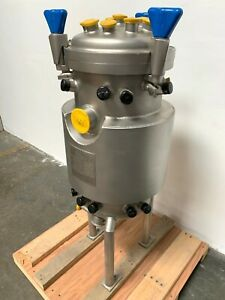 Precision 50 Liter Stainless Steel Jacketed Reactor Bare Tank Only