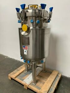 Precision 200 Liter Stainless Steel Jacketed Reactor Bare Tank Only