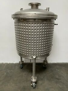 400 Liter Stainless Steel Dimple Jacketed Reactor